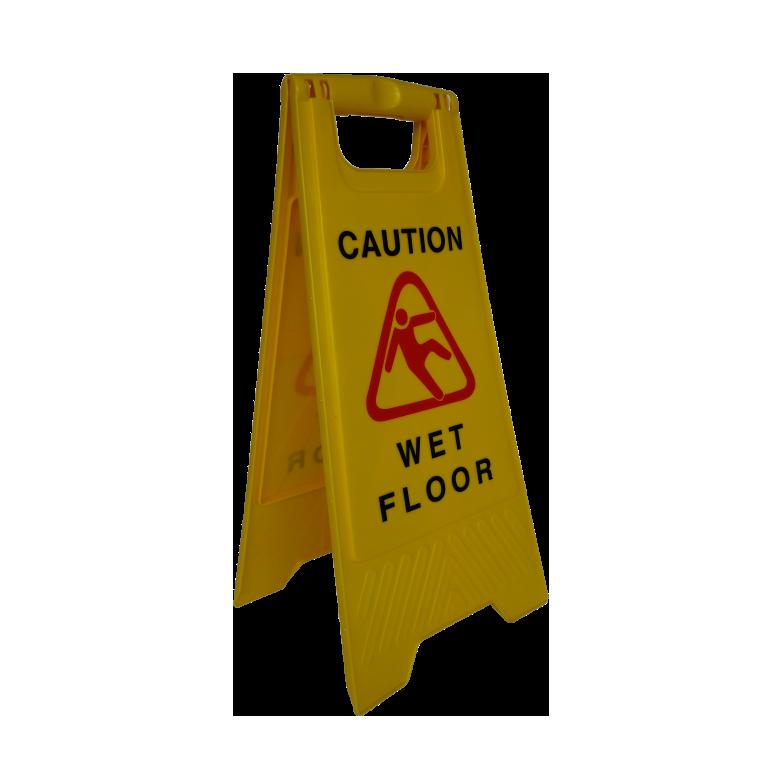 04-ป้ายสัญลักษณ์เตือน ระวังลื่น-กำลังทำความสะอาด